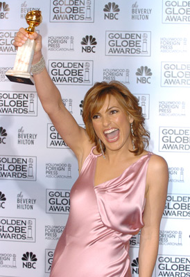 Mariska et son Golden Globe !